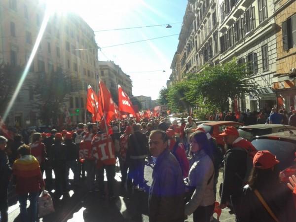 Manifestazione a Roma contro il Jobs Act