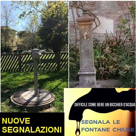 Continuano ad arrivare segnalazioni sulle fontanelle di Pisa chiuse