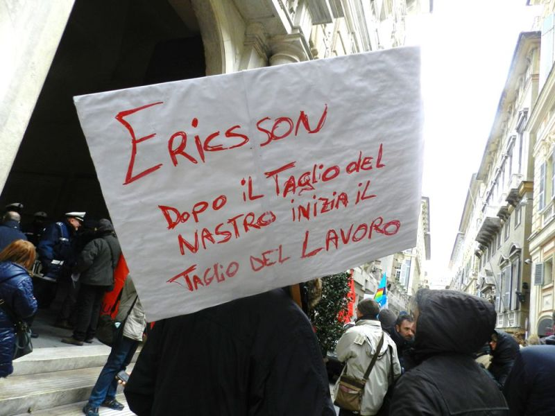 Licenziamenti Ericsson: da Genova a Pisa una mobilitazione comune della sinistra antiliberista