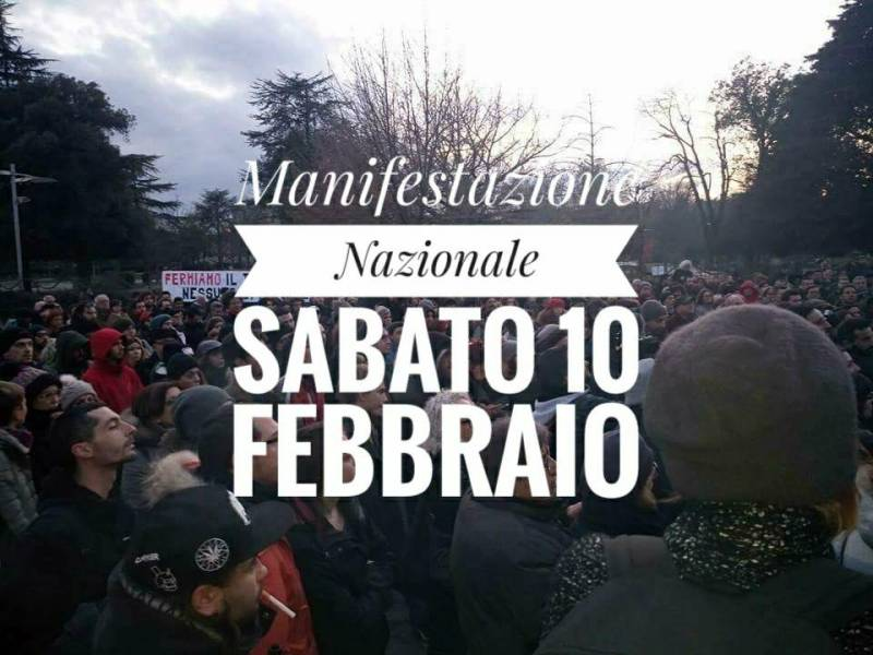Sabato 10 febbraio saremo a Macerata a manifestare