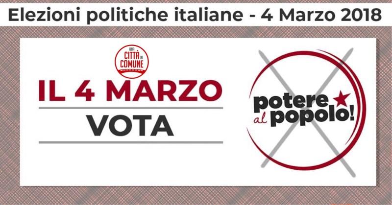 Il 4 marzo votiamo Potere al Popolo!