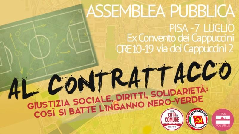 Al contrattacco – Assemblea pubblica, per costruire l'opposizione all'amministrazione di destra a Pisa