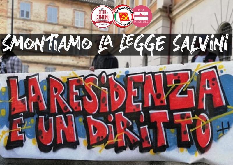 """Diritti in Comune: """"Diffidiamo il sindaco di Pisa a negare l'iscrizione anagrafica ai richiedenti asilo"""""""