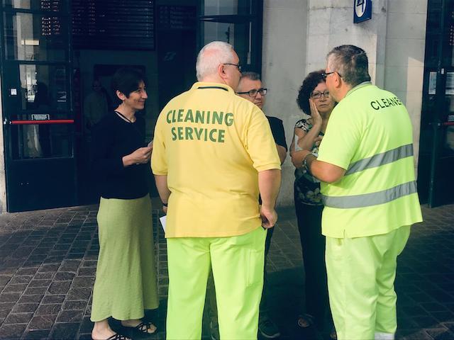 14 giugno: sosteniamo lo sciopero di chi lavora per servizi di pulizia della stazione