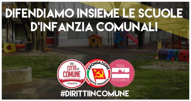 Scuola pubblica: Difendiamo le scuole dell'infanzia a Pisa - Locandina