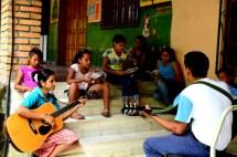 Choir meets once each week to practice for Misa.