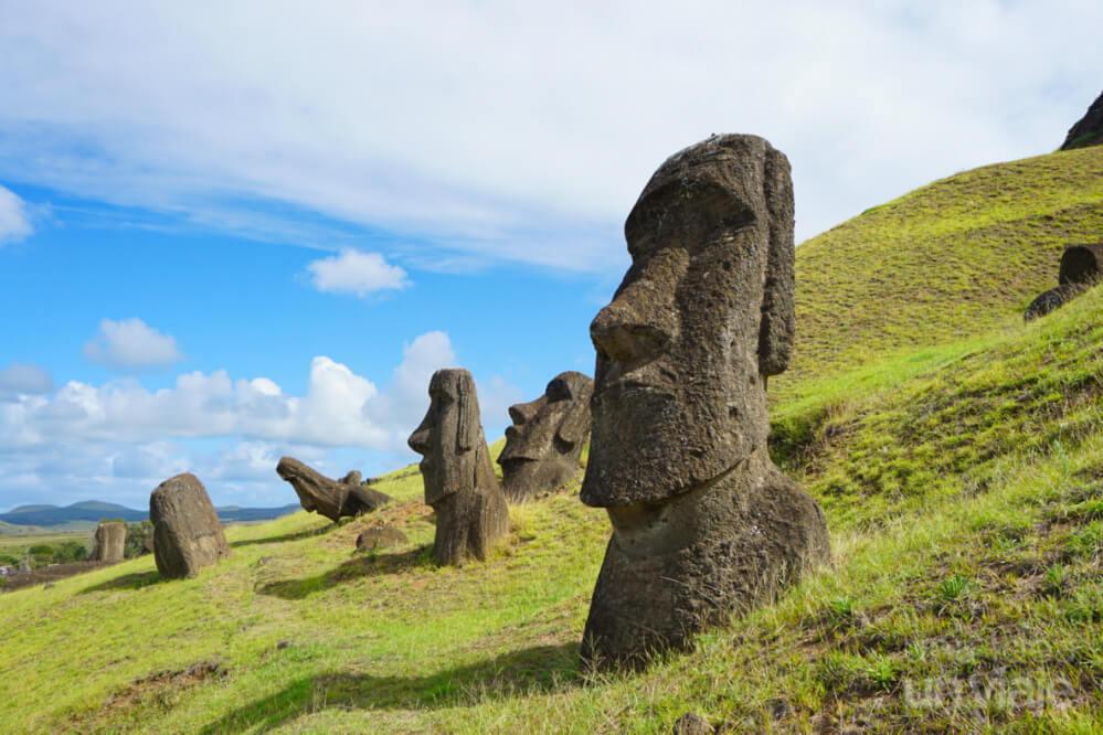 Cantera de moais (Rano Raraku) - Isla de Pascua