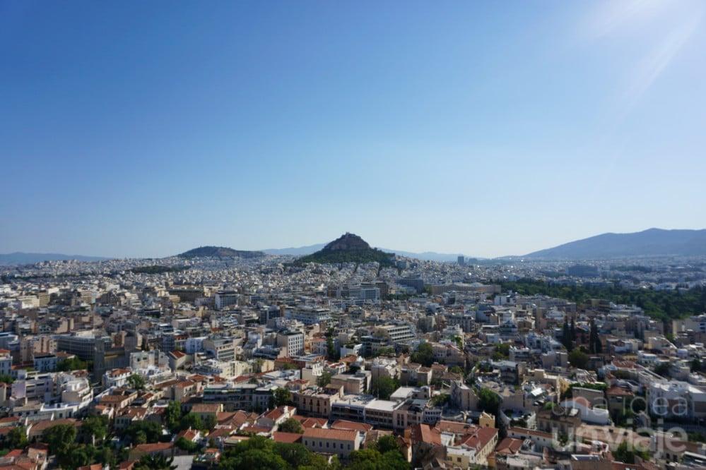 Monte Licabetos, visto desde la Acrópolis