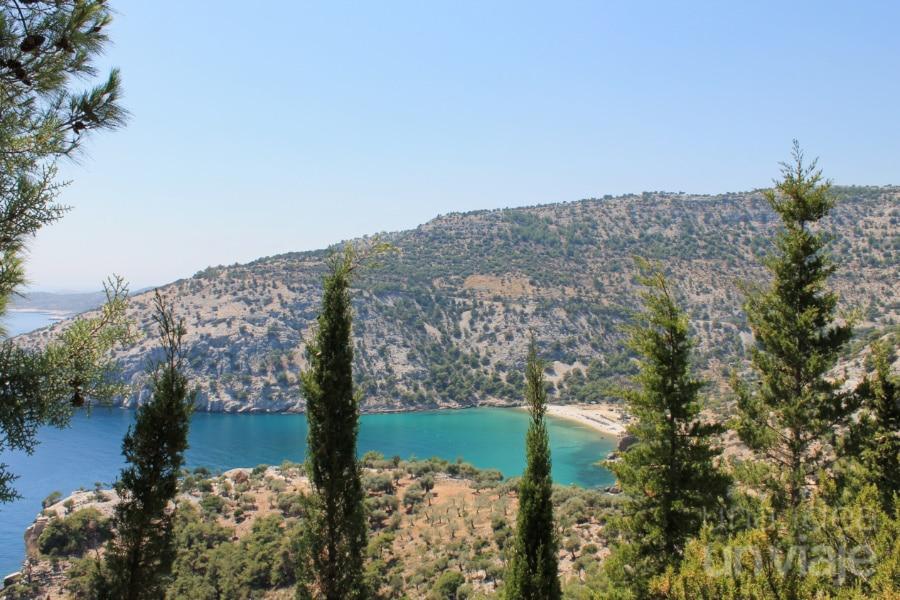 Vistas de la costa en la isla de Thasos - Grecia