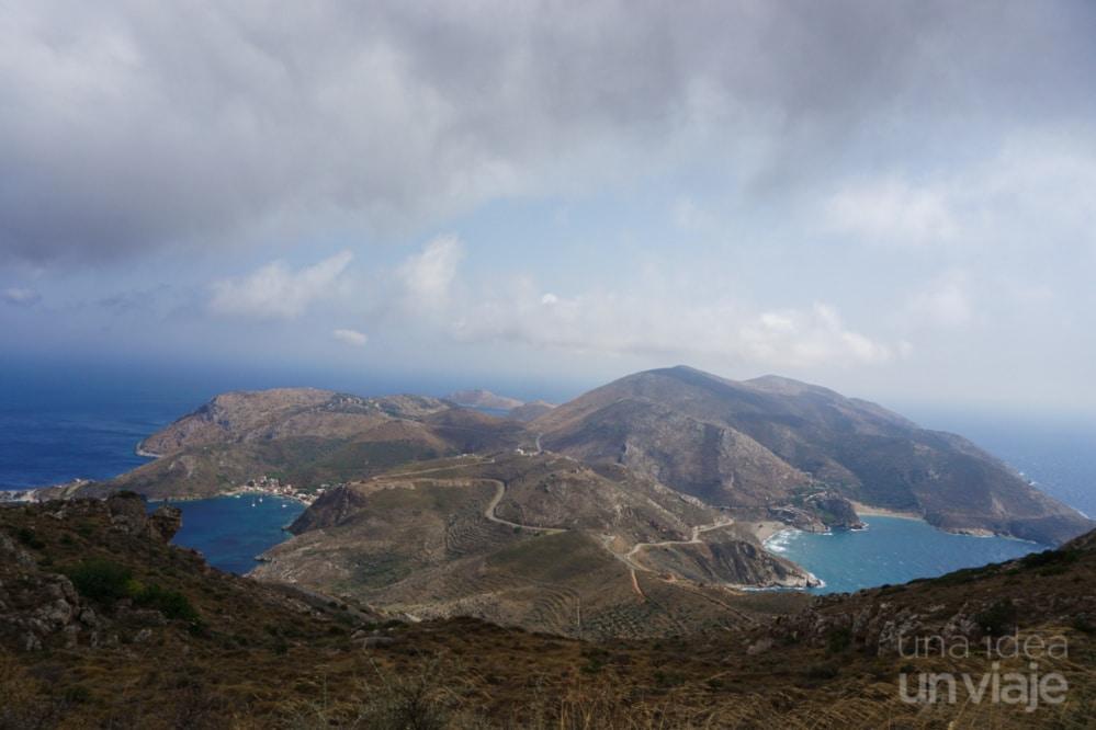 Vistas del acceso al Cabo Tenaron