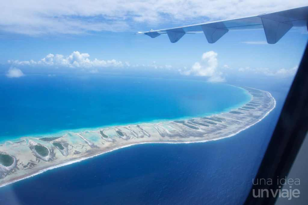 Tikehau, Polinesia Francesa, vista aérea