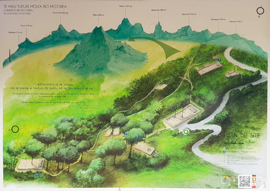 Montañas de Moorea, con el Rotui