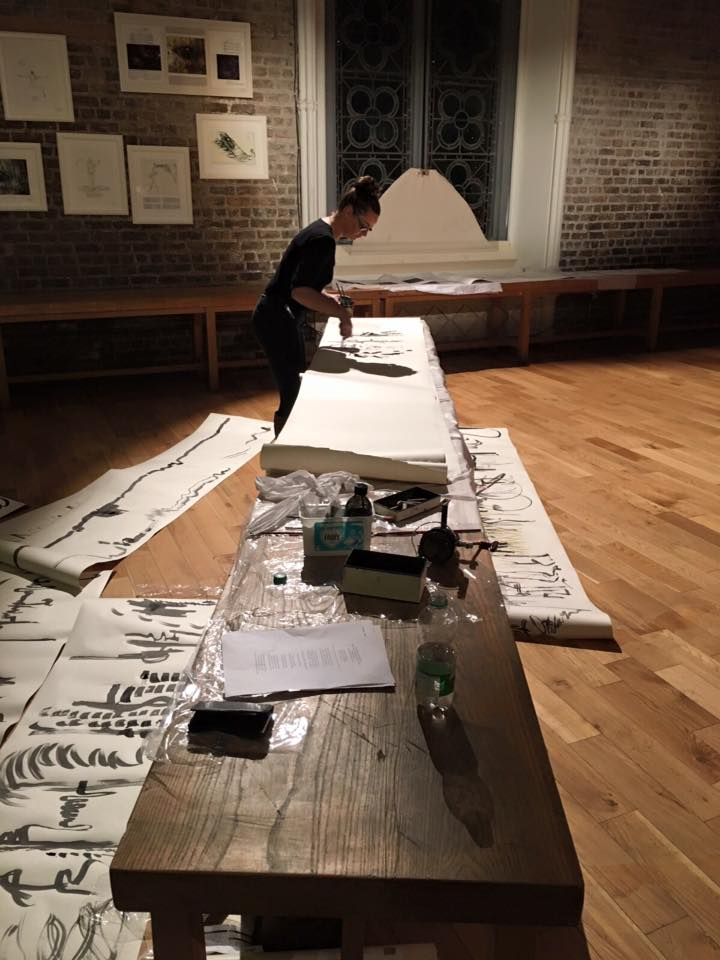 Live Drawing Performance with Contremporary Irish composers