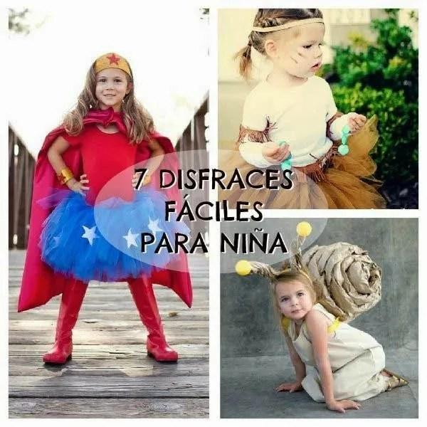 7 disfraces para niñas fáciles de hacer