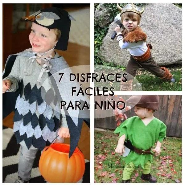 7 disfraces para niño fáciles de hacer
