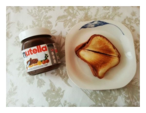 Sándwich caliente de Nutella