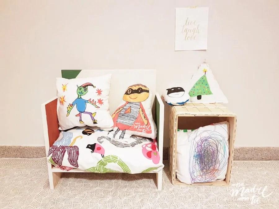 Ikea hack: de mesilla a banco para niños {Salvemos los muebles}