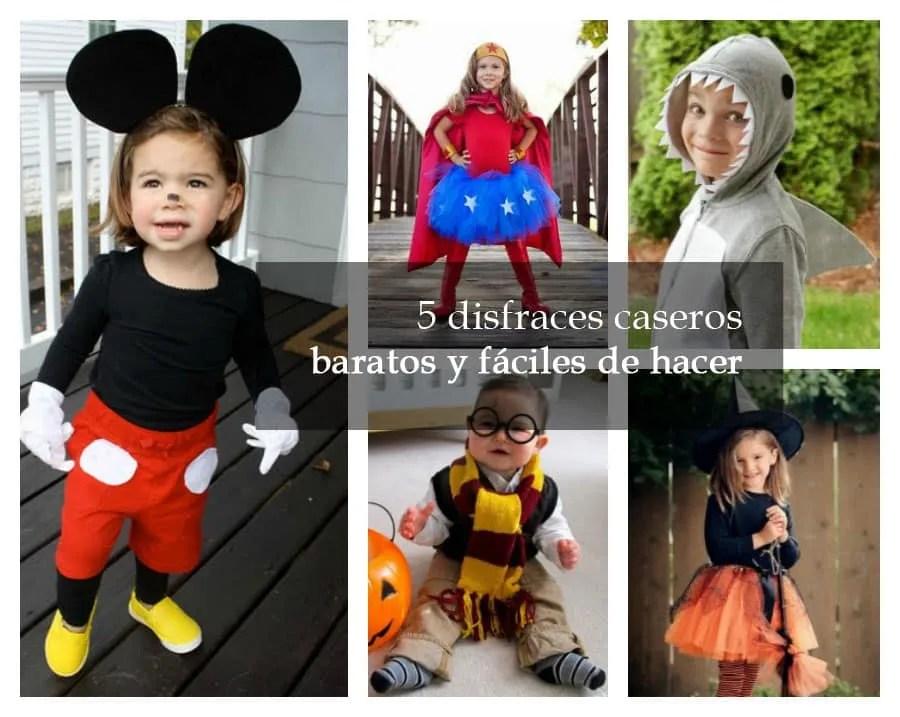 cinco disfraces de halloween baratos menos de 10 euros