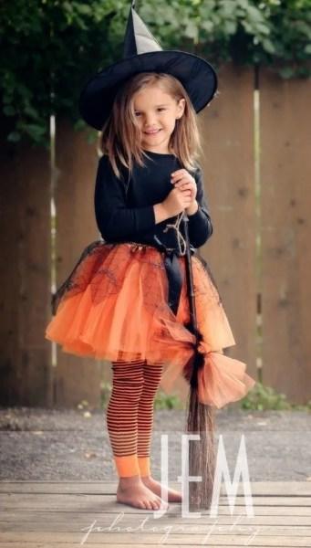 disfraz de bruja casero para niña