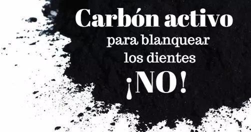 Carbón activo para blanquear los dientes: ¡No por favor!