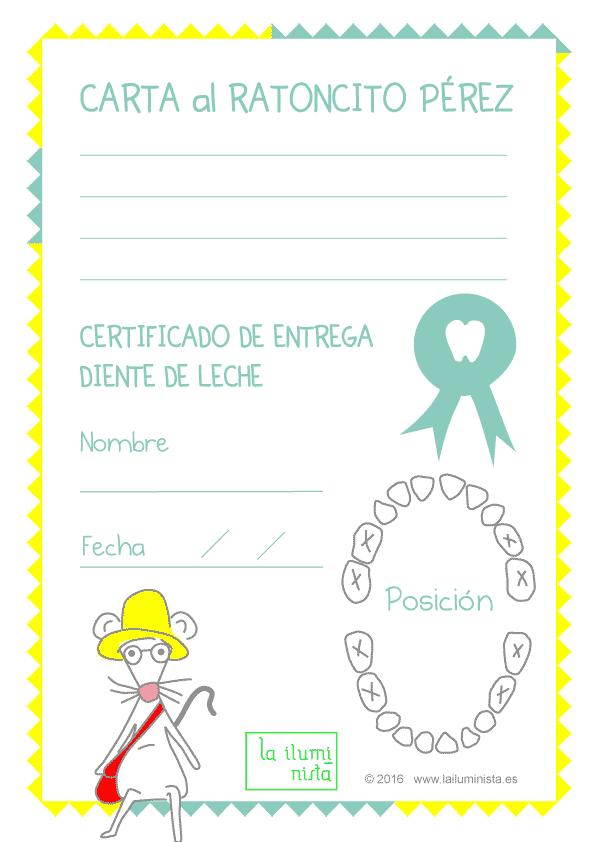 Certificados Y Cartas Del Ratoncito Pérez Para Imprimir Una Madre