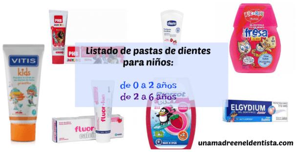 Pasta de dientes para niños  listado con más de 100 pastas - Una ... a8770a082413