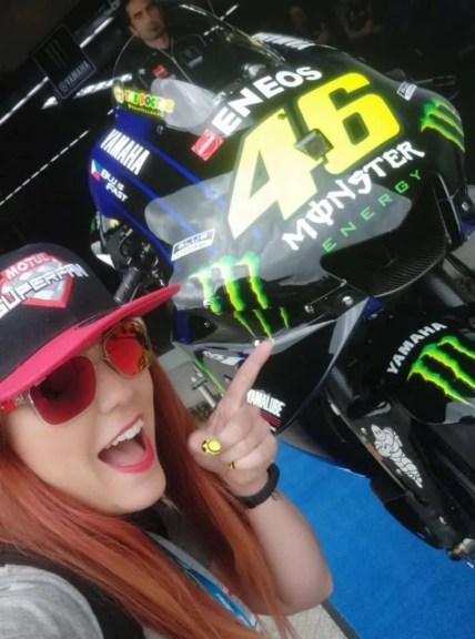 Con la M1 de Valentino Rossi