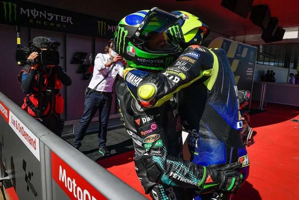 Valentino Rossi y Morbidelli en el CatalanGP 2020