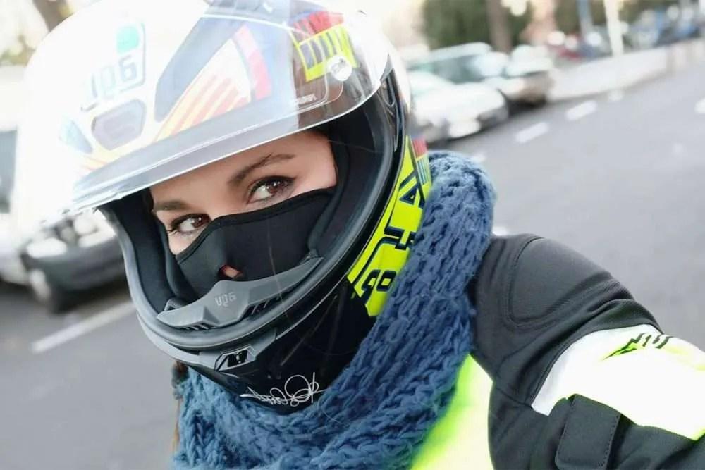 Sensación térmica en moto según velocidad y temperatura