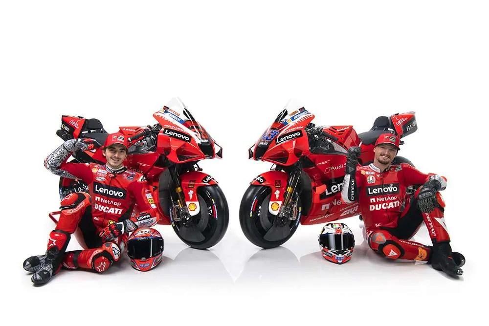 Miller y Bagnaia Ducati 2021