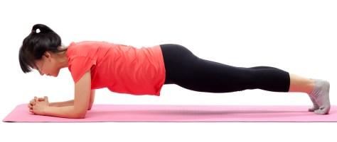 plank frontal, plancha, ejercicio, fitness, abdomen
