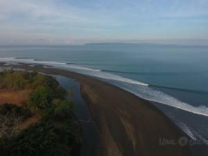 Aerial View of Pavones, Costa Rica