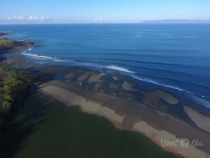 Pavones river mouth from the air