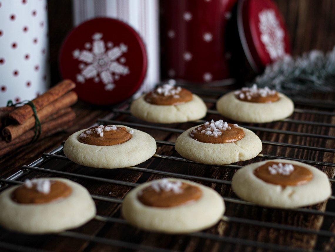 biscotti al burro con burro di arachidi e cannella