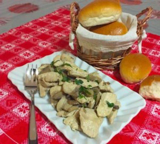 Straccetti di Pollo e Funghi