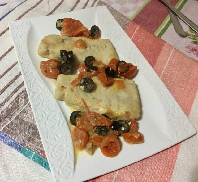 Merluzzo in Padella con Pomodorini