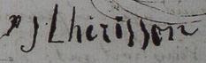 Signature de Jean Lhérisson père