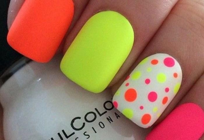 Uñas Decoradas De Colores Vivos Variados Y Fácil Uñasdecoradas Club