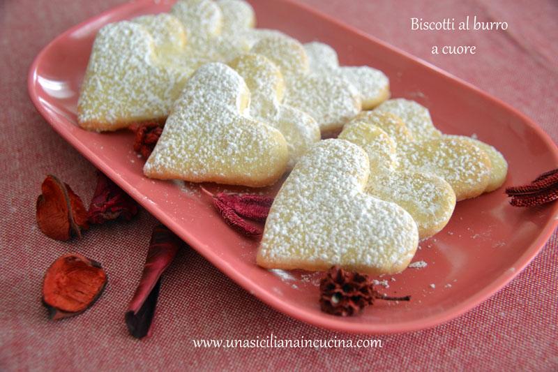 Biscotti al burro forma cuore