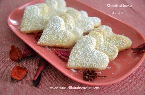 biscotti al burro a cuore