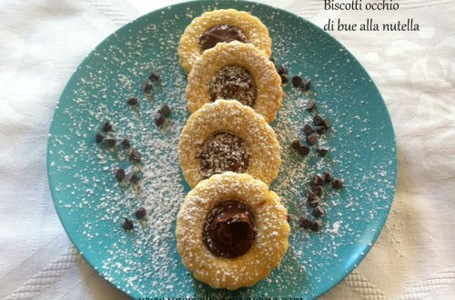 Biscotti occhio di bue crema di nocciole