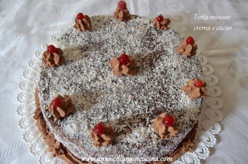 torta mousse crema cacao