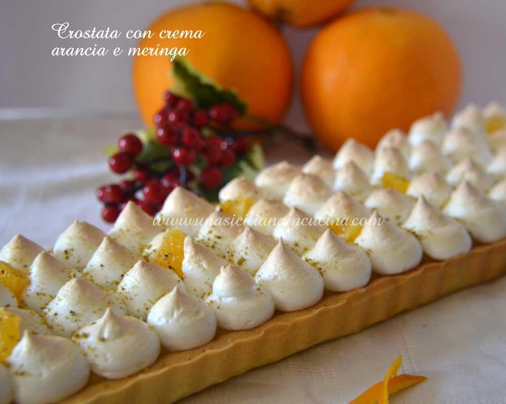 Crostata crema arancia e meringa