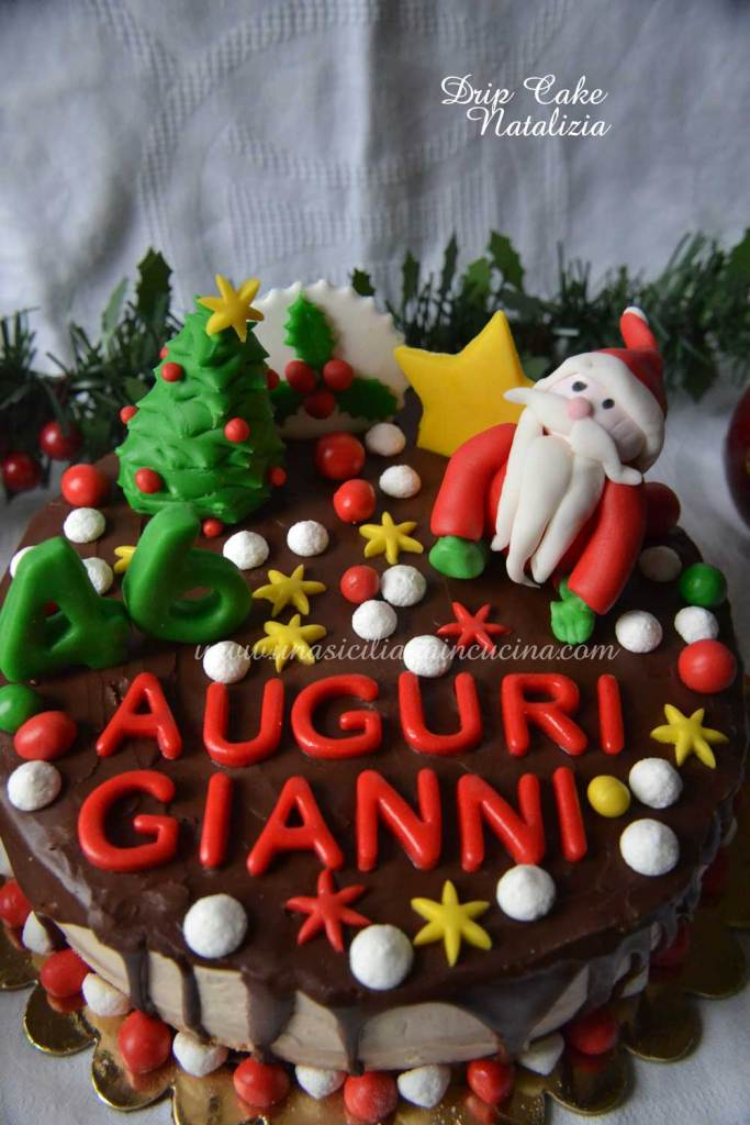 Drip Cake di Natale compleanno