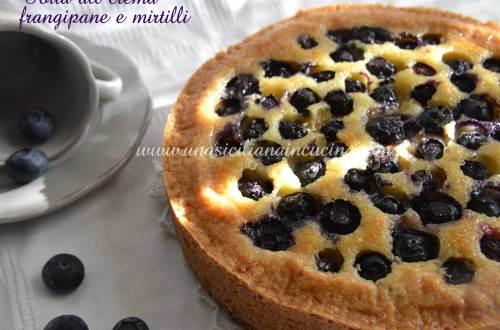Torta-alla-crema-frangipane-e-mirtilli