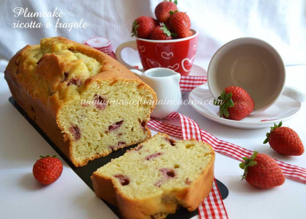 Plumcake al farro ricotta e fragole
