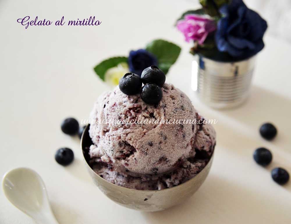 Gelato ai mirtilli homemade