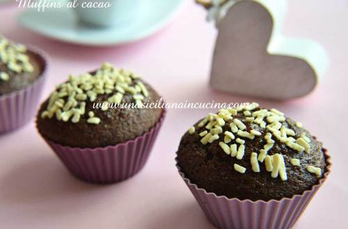 Muffins al cacao all acqua
