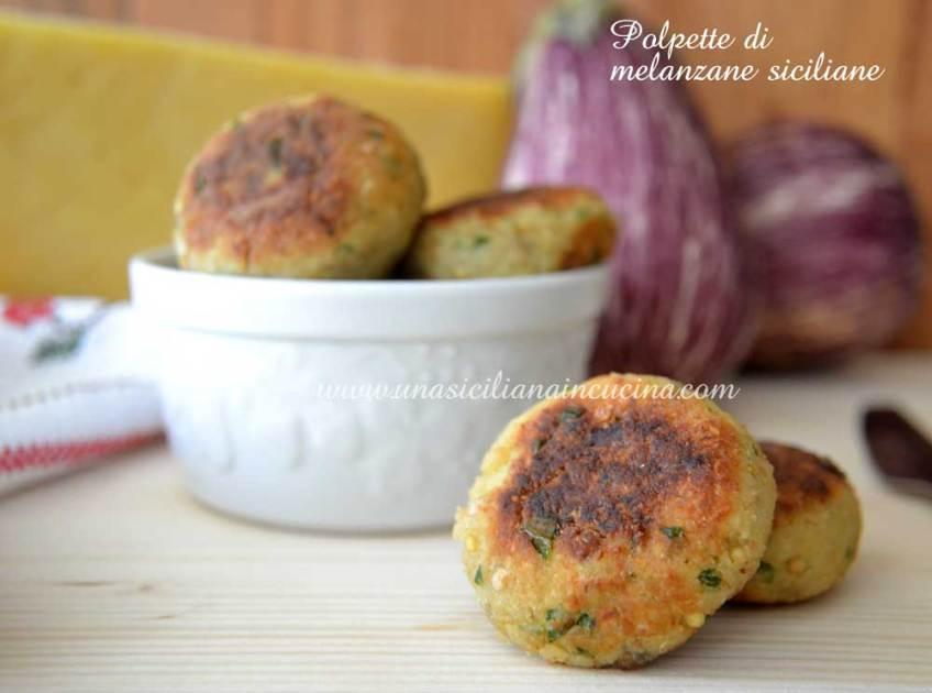 Polpette di melanzane siciliane