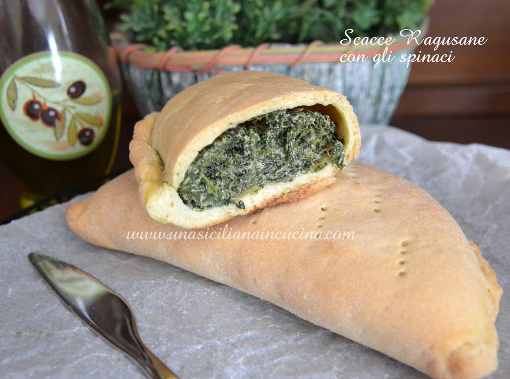 Focacce o scacce ragusane con gli spinaci